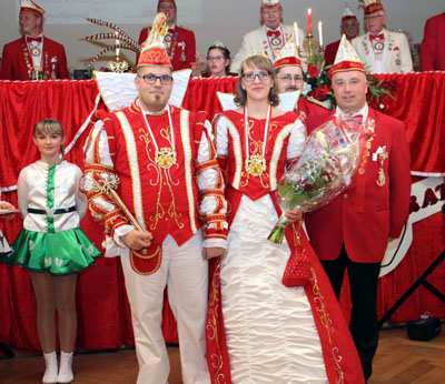 Prinz Sascha I. und Ihre Lieblichkeit Prinzessin Stefanie I. regieren die Rangenberger Karnevalisten im 70. Jahr des Bestehens. Foto: LRKG / Jens Zimmermann