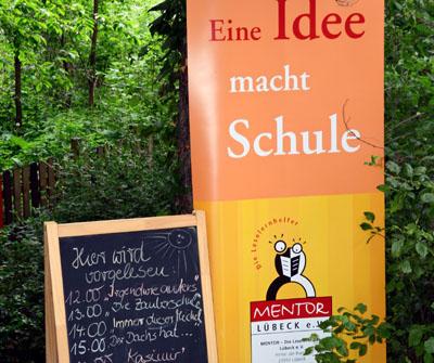 Der Verein Mentor lädt zum Welttag des Buches in den Schulgarten ein. Foto: Veranstalter