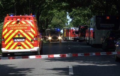 Der Bereich am Kücknitzer Bahnhof wurde durch die Polizei weiträumig abgesperrt. Fotos/Video: VG