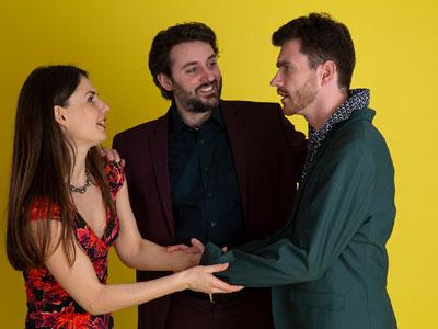 Spannendes Trio: Christina Völz, Alexander Kruuse Mettin und Fabian Männel. Foto: Margret Witzke