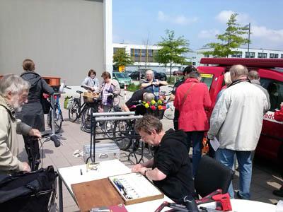 Am Sonnabend werden in Travemünde wieder Fahrräder codiert. Foto: Polizei/Archiv