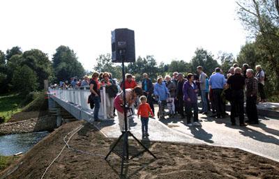 Die Brücke wurde im September 2015 eingeweiht. Foto: JW/Archiv