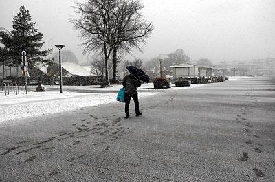 Der feuchte Ostwind kann auch etwas Schnee mitbringen. Foto: Karl Erhard Vögele/Archiv