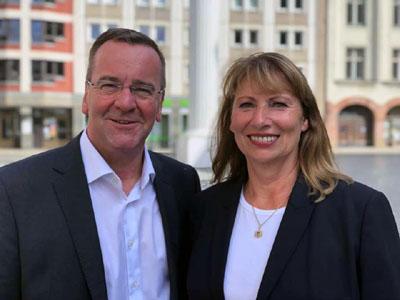 Boris Pistorius und Petra Köpping kommen am 21. September nach Lübeck. Foto: SPD Sachsen