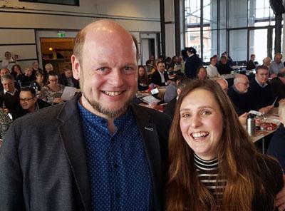 Jörn Puhle und Sophia Schiebe sind die Kreisvorsitzenden der SPD Lübeck. Foto: Harald Denckmann