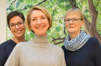 Das Projektteam (v. l.: Christine Wischmeyer, Claudia Rudloff und Ute Rusch) freut sich auf viele Interessierte beim Sommerfest 2018. Foto: Gemeindediakonie