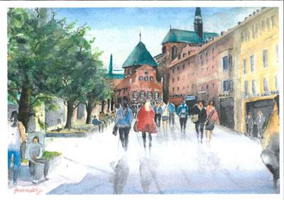 Die Bilder und Zeichnungen von Marion Gronowsky sind ab Freitag im Rathaus von Stockelsdorf ausgestellt. Bild: Veranstalter