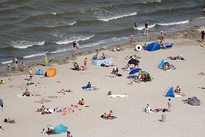 Das Strandwetter soll noch bis Sonntag andauern. Fotos: Karl Erhard Vögele