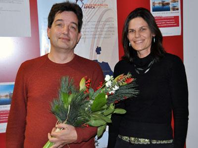 TH-Präsidentin Dr. Muriel Helbig gratulierte ihrem Vize Prof. Dr. Henrik Botterweck zur Wiederwahl. Foto: TH