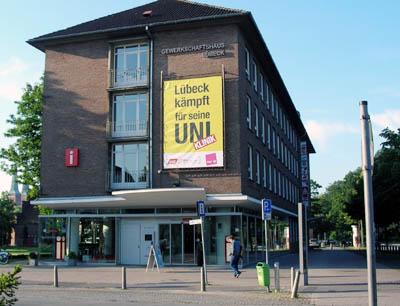 Veranstaltungsort ist das Gewerkschaftshaus Lübeck.