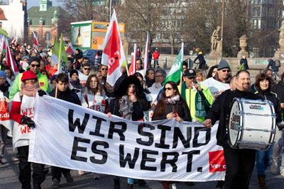 Die Vereinte Dienstleistungsgewerkschaft (ver.di) hat Beschäftigte und Auszubildende der Barmer bundesweit zu Warnstreiks aufgerufen.  Foto: VG/Archiv