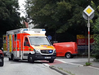 An der Geniner Straße wurde ein Radfahrer schwer verletzt. Foto: JW