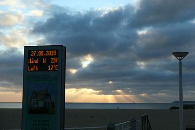 Am Donnerstagmorgen sanken die Temperaturen auf zwölf Grad. Fotos: Karl Erhard Vögele