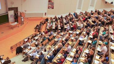 Mehr als 400 Teilnehmer nahmen in diesem Jahr am 4. Lübecker Notfalltag des UKSH im Audimax am Campus Lübeck teil. Foto: UKSH